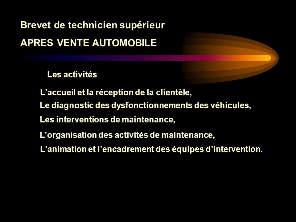 Brevet de technicien supérieur APRES VENTE AUTOMOBILE 7T1 Mettre en œuvre une action de formation.