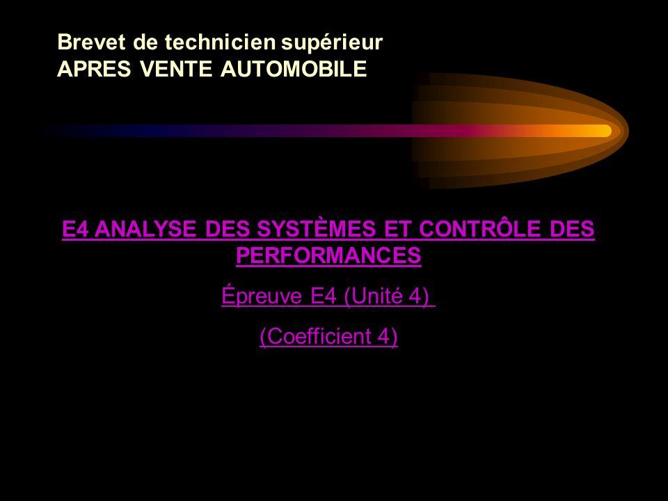 Brevet de technicien supérieur APRES VENTE AUTOMOBILE Le règlement dexamen