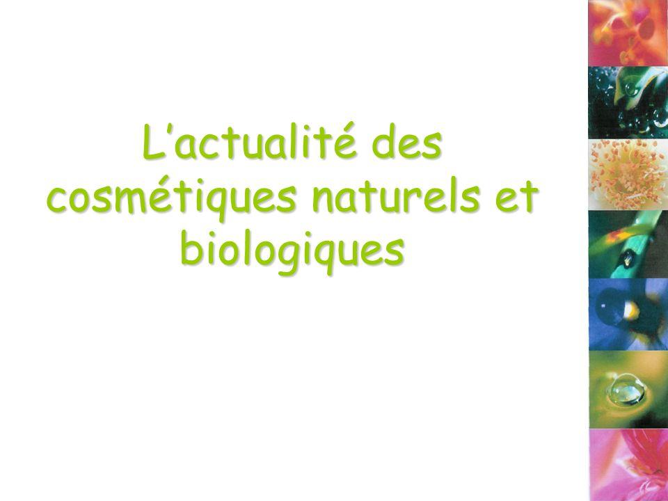 Lactualité des cosmétiques naturels et biologiques