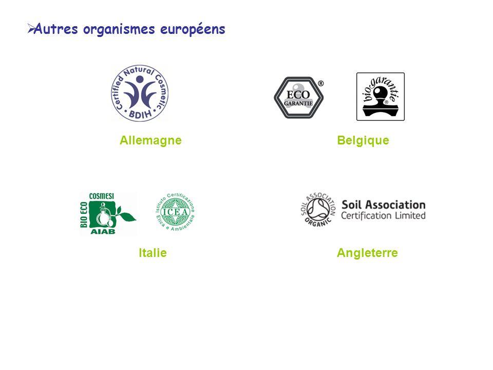 AllemagneBelgique ItalieAngleterre Autres organismes européens