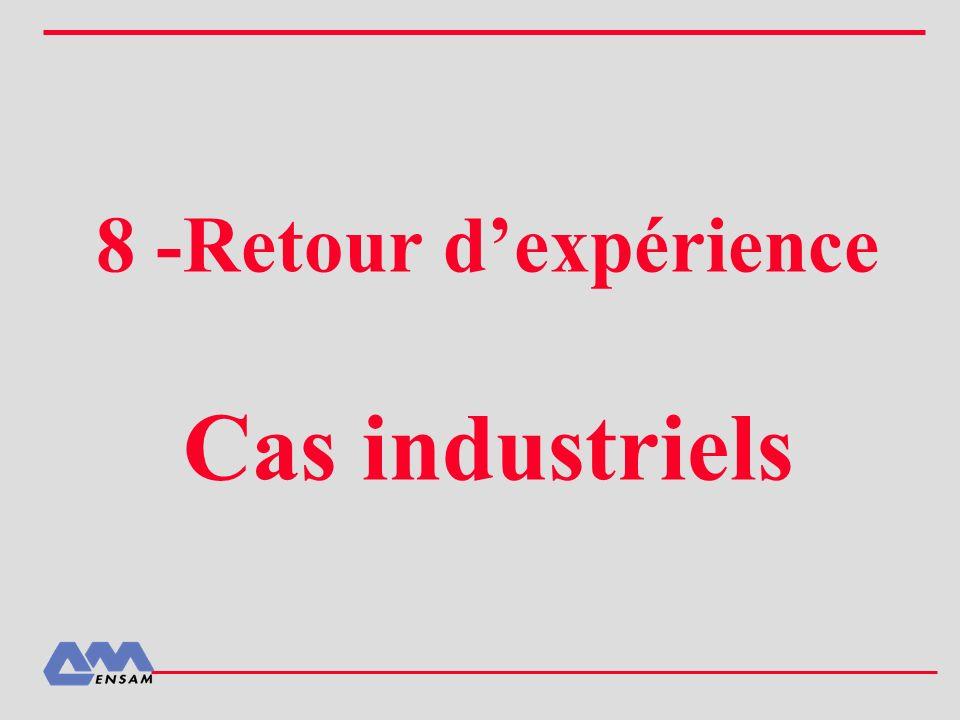 8 -Retour dexpérience Cas industriels