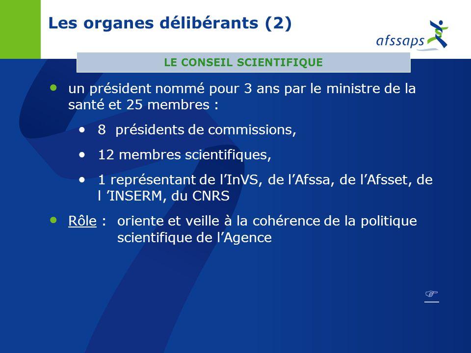 Les organes délibérants un président nommé pour 3 ans par le ministre de la santé et 19 membres : 9 membres de droit 4 membres qualifiés dans les doma