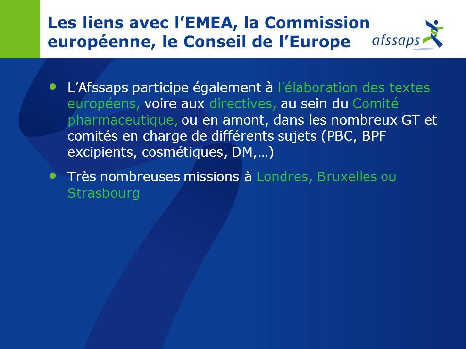 Les liens avec lEMEA et la Commission européenne Le dossier est présenté par le pays rapporteur au sein du Comité des spécialités pharmaceutiques (CHM