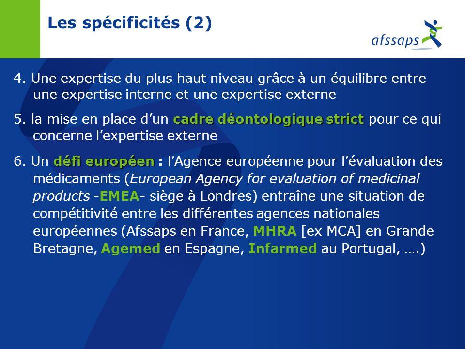 Les spécificités (2) 4.