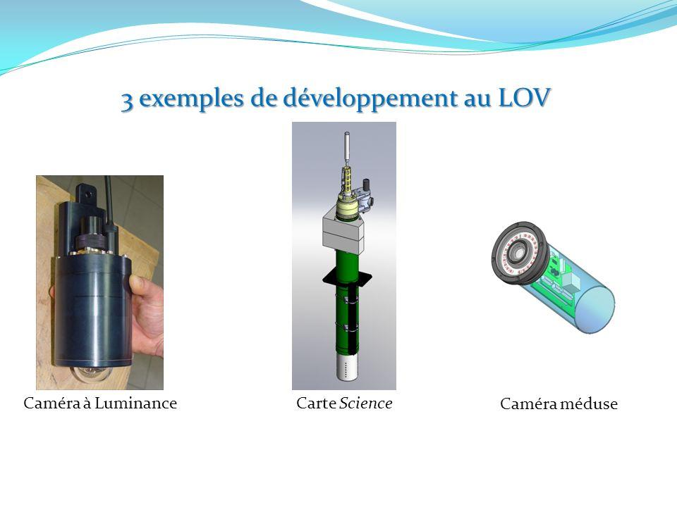 3 exemples de développement au LOV Caméra à LuminanceCarte Science Caméra méduse