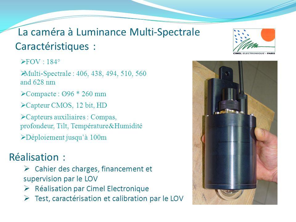 Caractéristiques : FOV : 184° Multi-Spectrale : 406, 438, 494, 510, 560 and 628 nm Compacte : Ø96 * 260 mm Capteur CMOS, 12 bit, HD Capteurs auxiliair