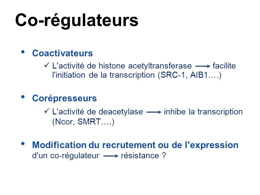 From Ali & Coombes, 2002 Co-régulateurs TAM E2