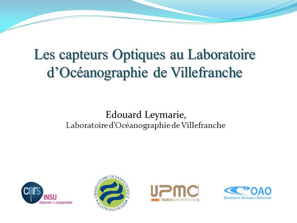 Plan Présentation du LOV Les capteurs optiques in situ au LOV Les plateformes dutilisation Les moyens R&D du LOV