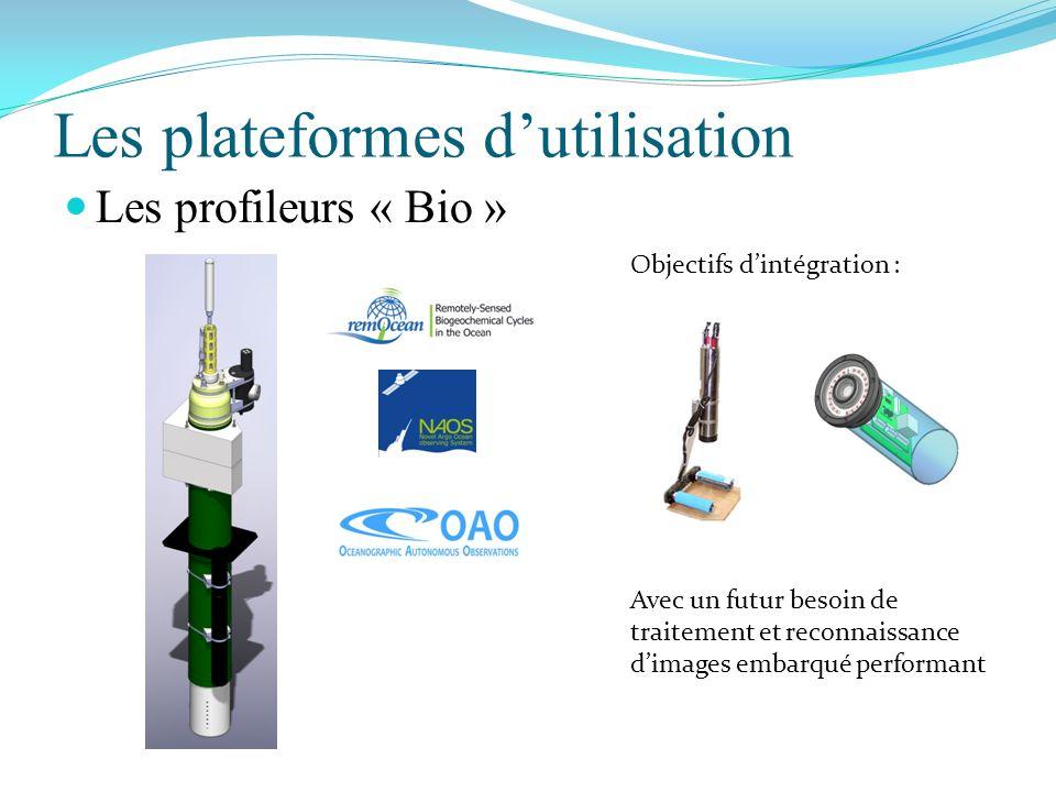 Les plateformes dutilisation Les profileurs « Bio » Objectifs dintégration : Avec un futur besoin de traitement et reconnaissance dimages embarqué per