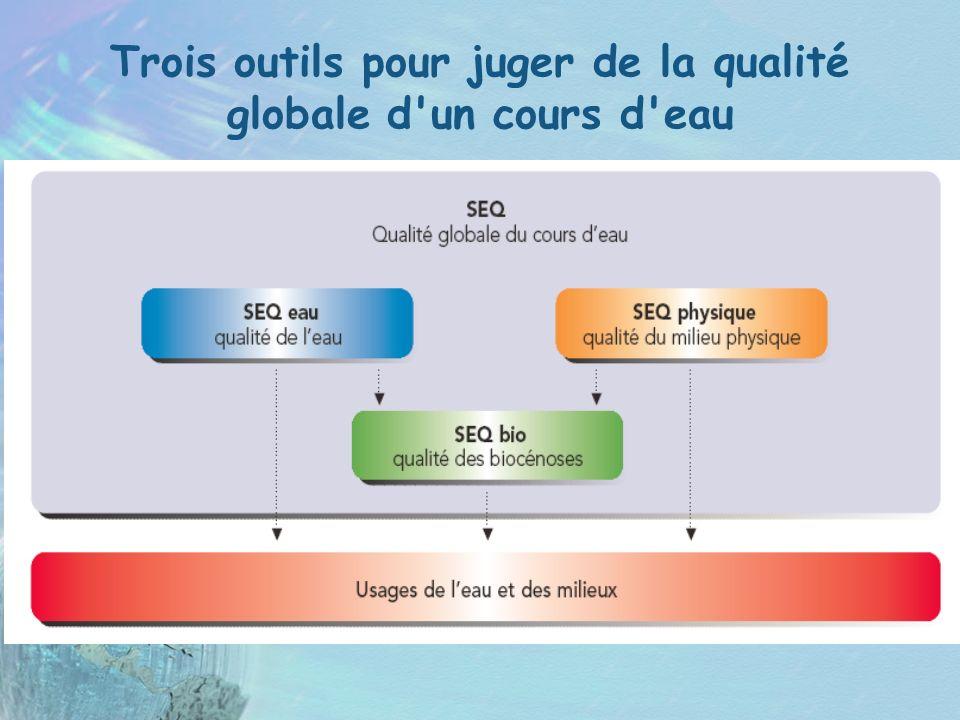 Trois outils pour juger de la qualité globale d'un cours d'eau
