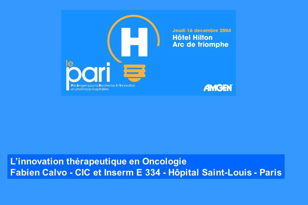 Linnovation thérapeutique en Oncologie Fabien Calvo - CIC et Inserm E 334 - Hôpital Saint-Louis - Paris
