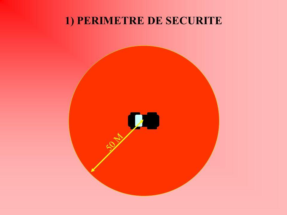50 M 1) PERIMETRE DE SECURITE