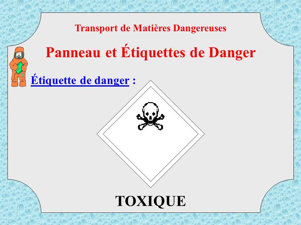 Étiquette de danger : COMBURANT Transport de Matières Dangereuses Panneau et Étiquettes de Danger TMD