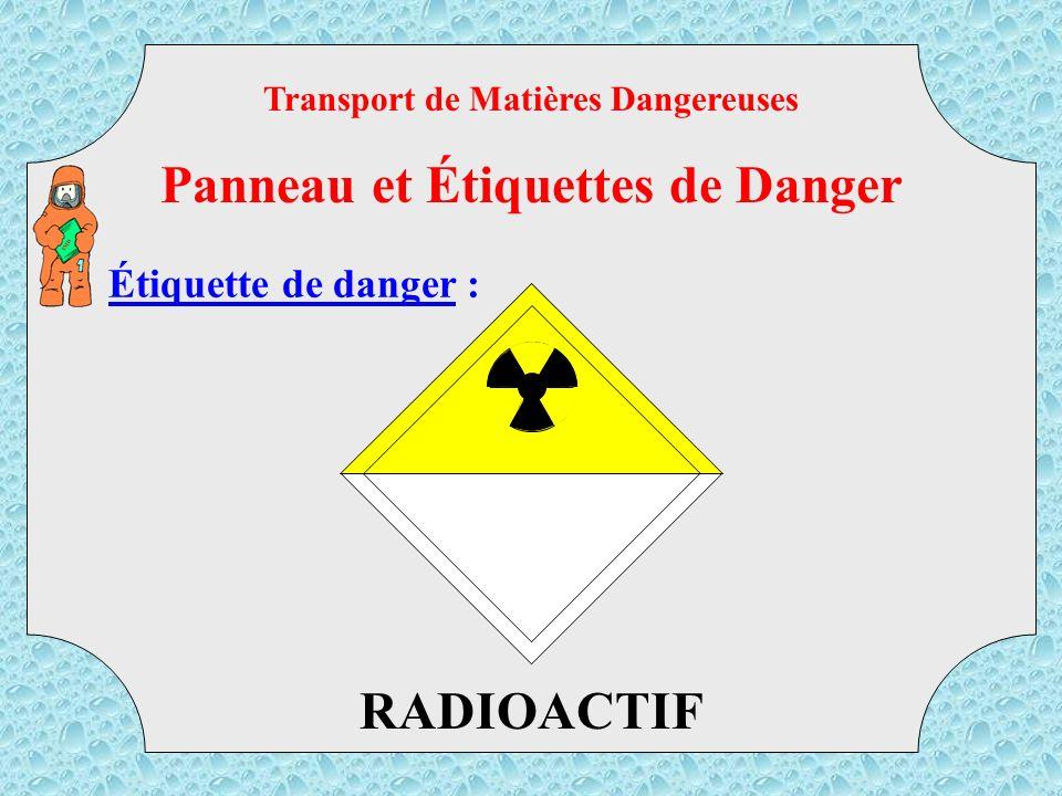 CORROSIF Transport de Matières Dangereuses Panneau et Étiquettes de Danger TMD Étiquette de danger :