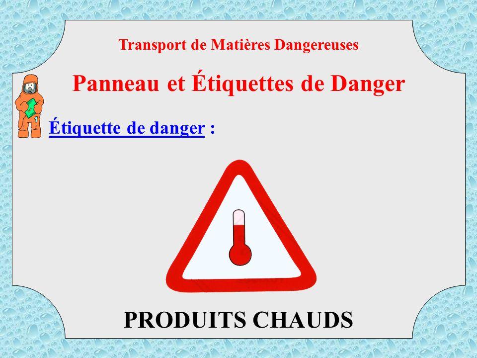 Étiquette de danger : MATIERES DANGEREUSES DIVERSES 9 Transport de Matières Dangereuses Panneau et Étiquettes de Danger TMD