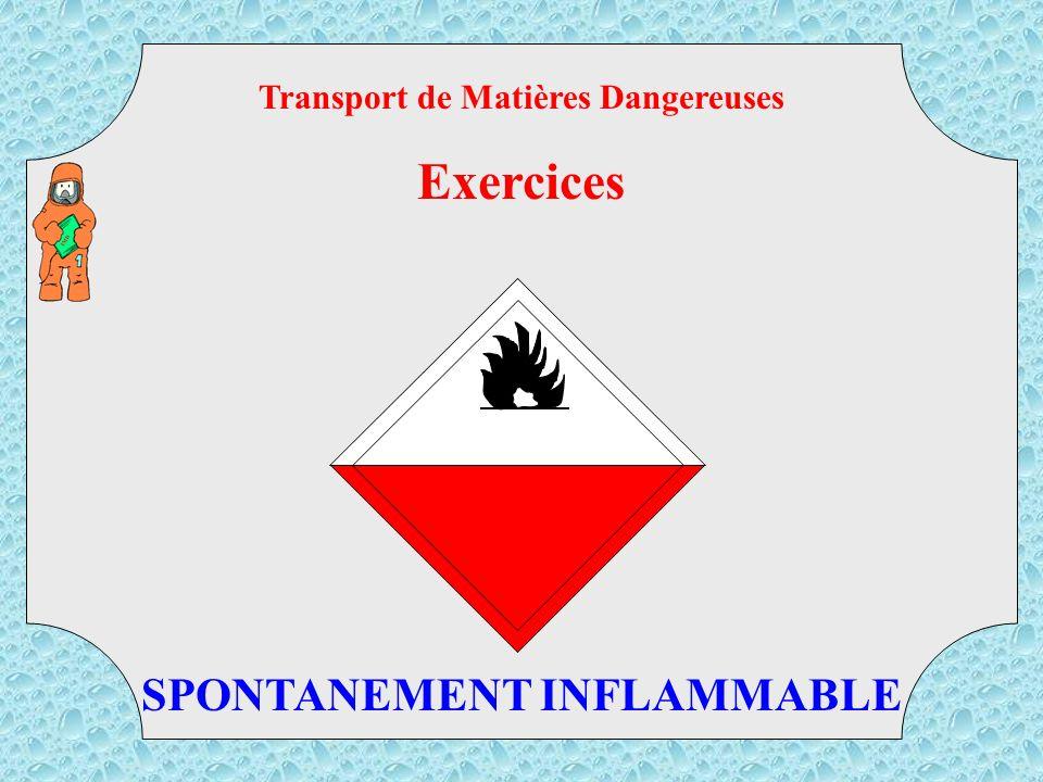 268 TMD Transport de Matières Dangereuses Exercices GAZ TOXIQUE ET CORROSIF
