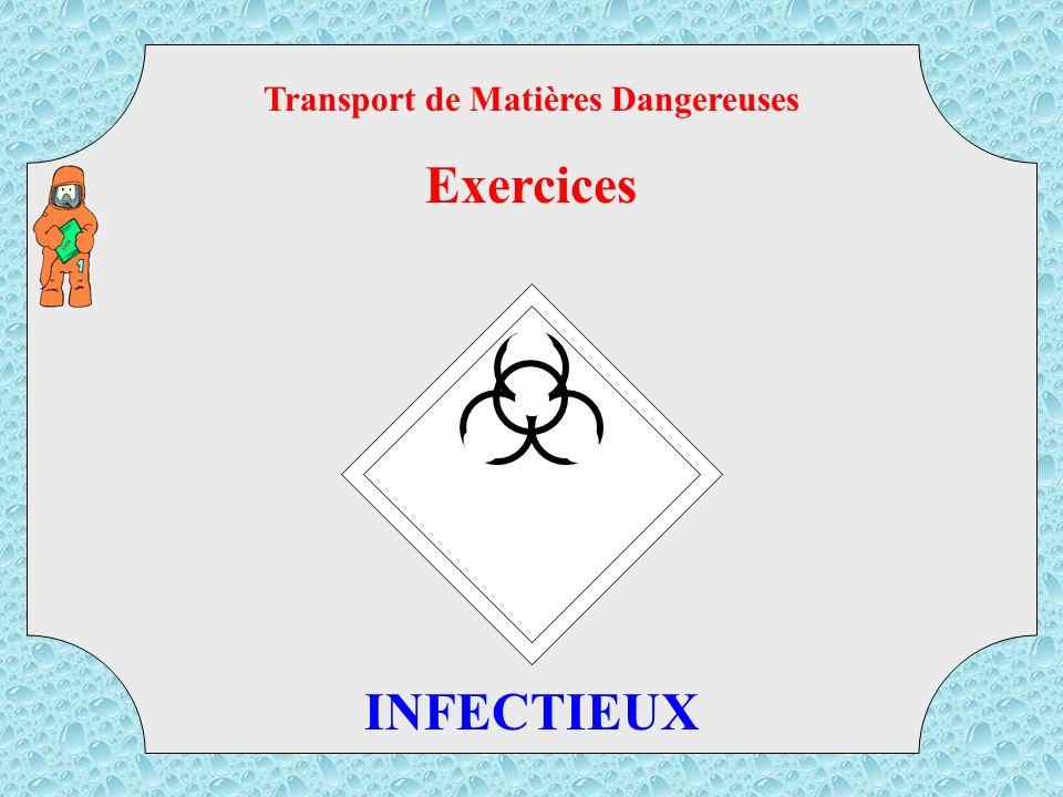 40 TMD Transport de Matières Dangereuses Exercices SOLIDE INFLAMMABLE