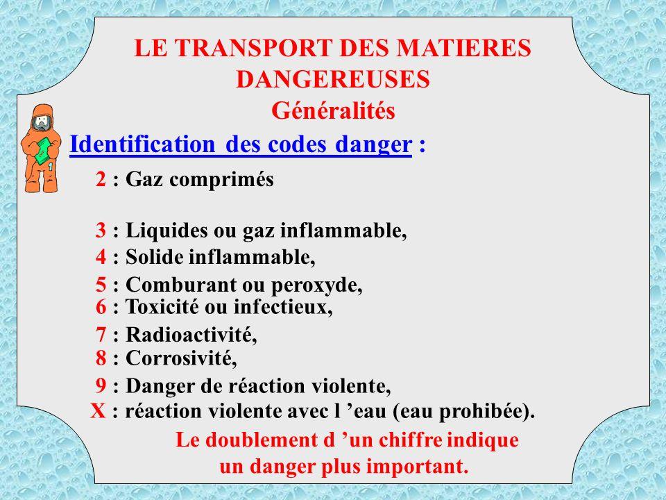But de la réglementation : LE TRANSPORT DES MATIERES DANGEREUSES Généralités TMD CLASSIFIER LES PRODUITS, DETERMINER LES INCOMPATIBILITES, LIMITER LES