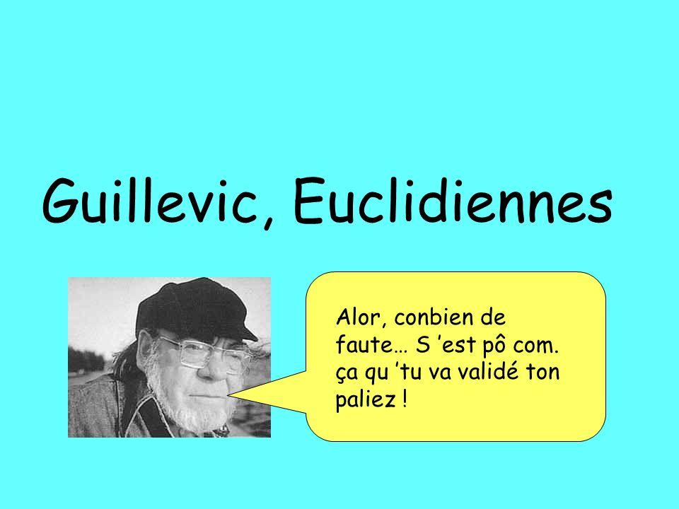 Guillevic, Euclidiennes Alor, conbien de faute… S est pô com. ça qu tu va validé ton paliez !