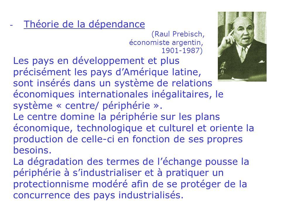 c. Les théories du développement - Théorie libérale (W.W.