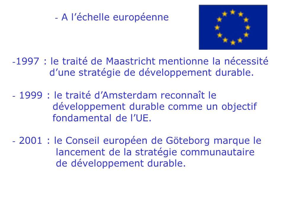 b.Quelques dates clés du développement durable - A léchelle internationale
