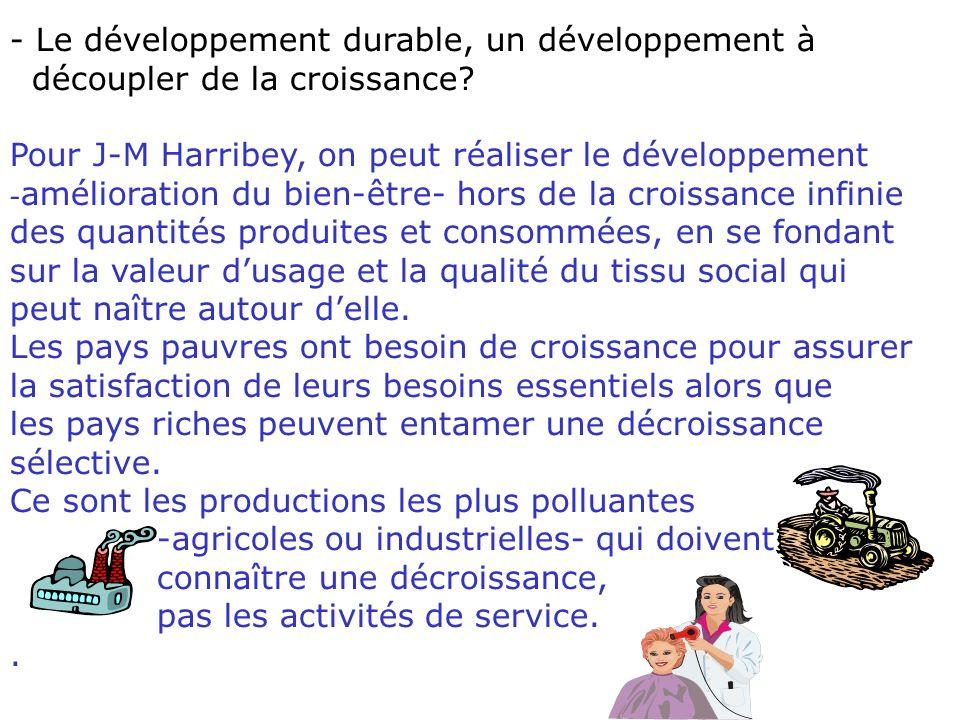 4. Développement et développement durable, quelle relation.