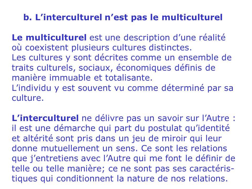 1. Communication interculturelle a.Définition « Le préfixe