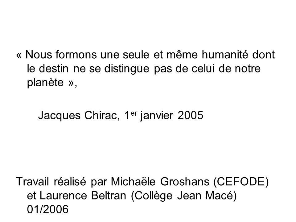 e) Sources bibliographiques : Laide publique au développement, un outil à réinventer, Guillaume Olivier, 2004 Quel financement pour le développement .