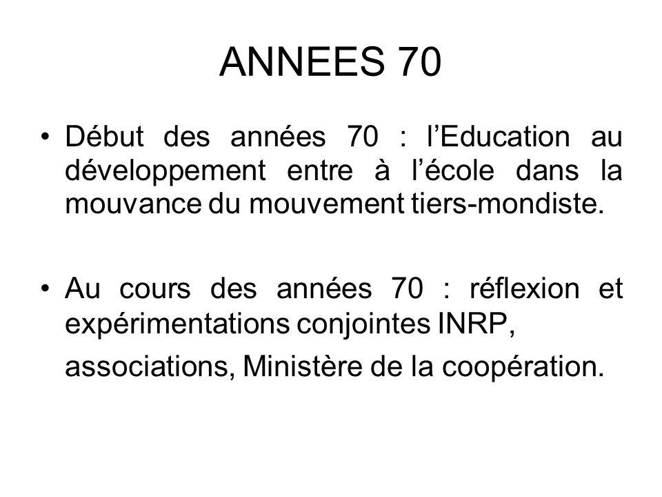 Instructions pédagogiques Note de service du 04/11/05 Dans le cadre de l éducation à l environnement pour un développement durable, l éducation au développement et à la solidarité internationale vise à faire comprendre les grands déséquilibres mondiaux et à encourager la réflexion sur les moyens d y remédier.