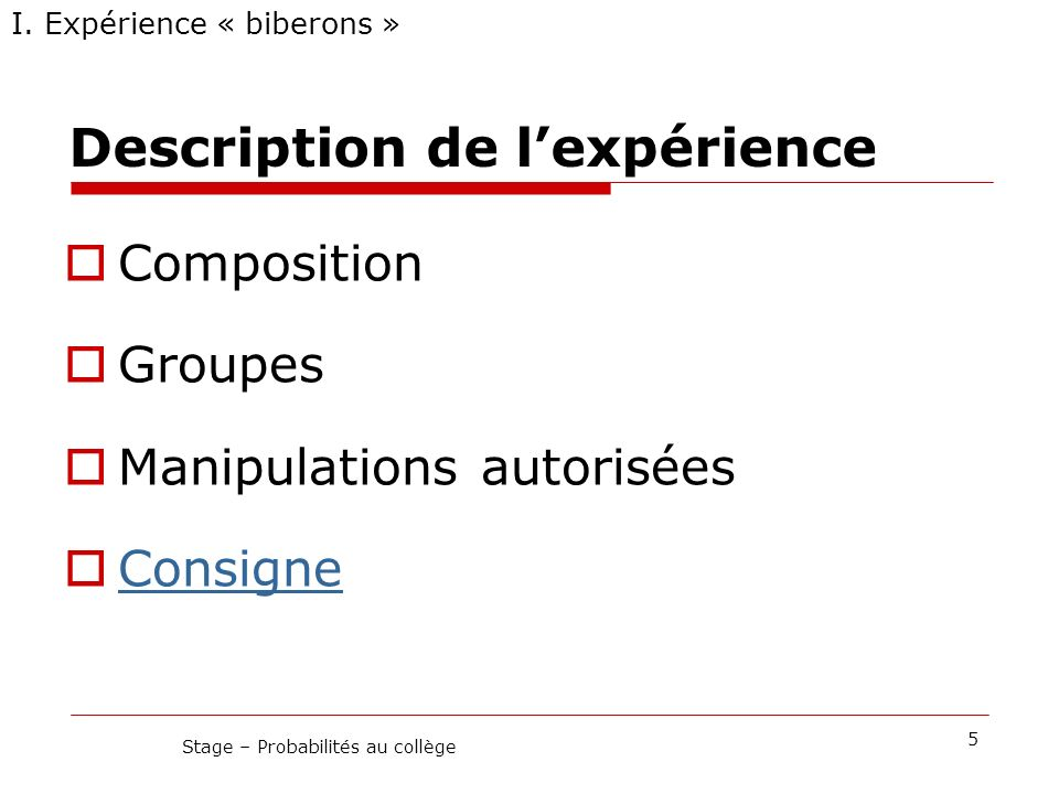 Des exercices Stage – Probabilités au collège26 III.