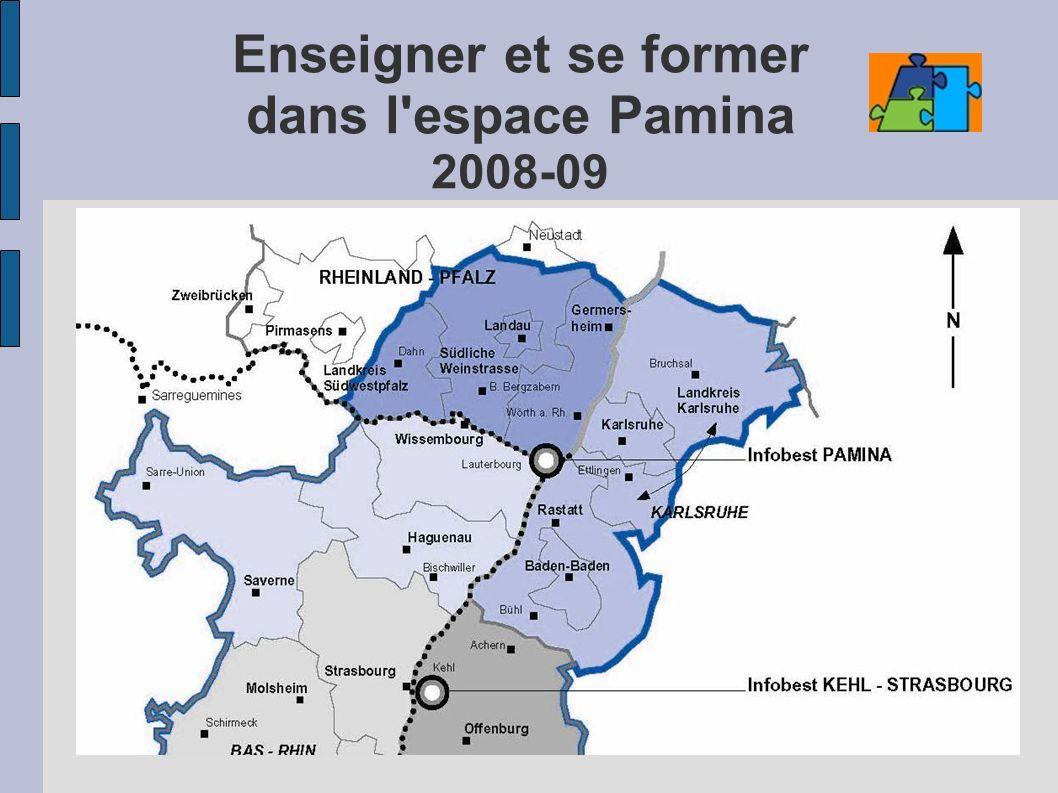 Enseigner et se former dans l'espace Pamina 2008-09