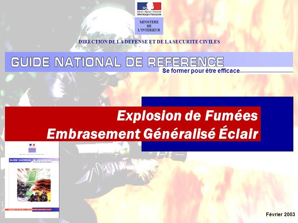 Explosion de Fumées - Embrasement Généralisé Éclair 1 - Lecture précise du feu CONDUITES A TENIR Origine, Intensité : Nets, Assourdis, … Les SONS