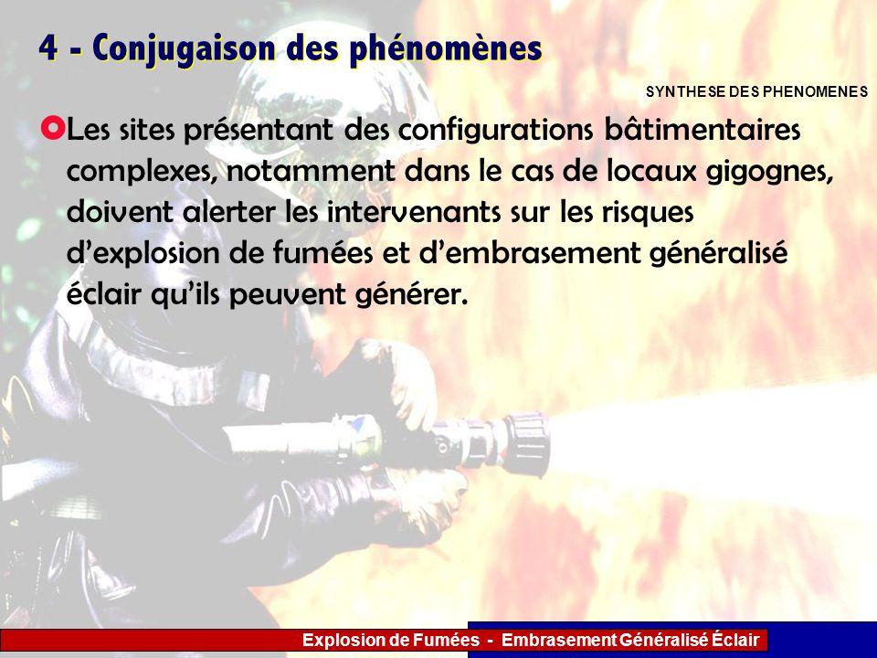 Explosion de Fumées - Embrasement Généralisé Éclair 4 - Conjugaison des phénomènes Les sites présentant des configurations bâtimentaires complexes, no