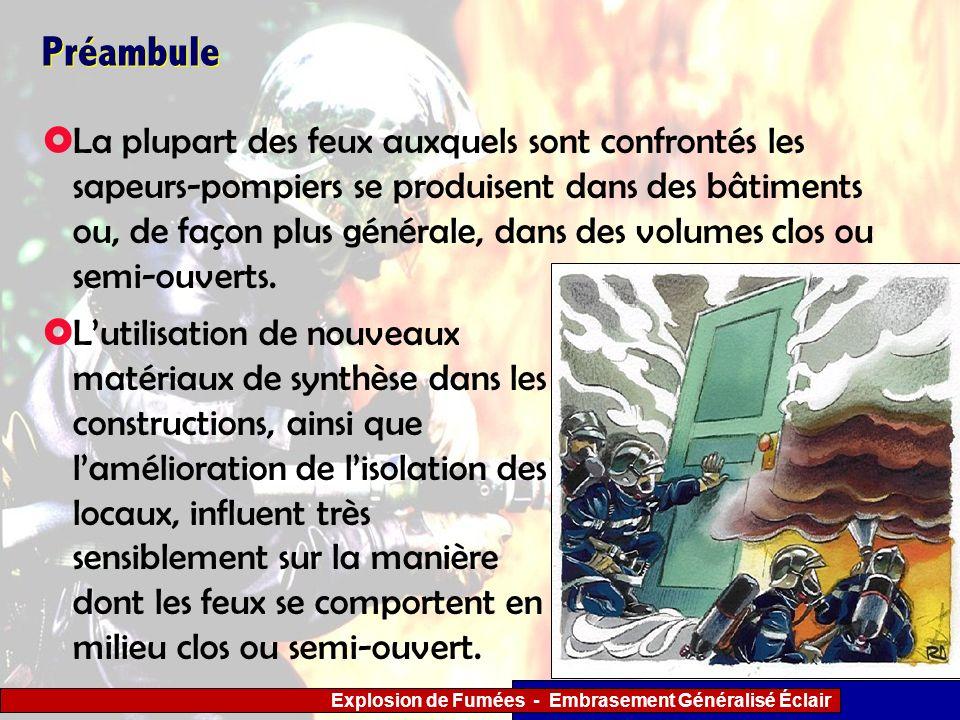 Explosion de Fumées - Embrasement Généralisé Éclair Document réalisé par le Groupe de Travail « Accidents Thermiques » mis en place par la Direction de la Défense et de la Sécurité Civiles.