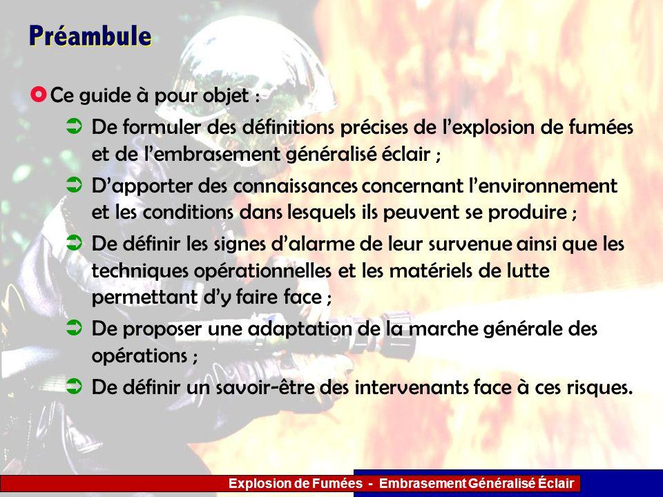 Explosion de Fumées - Embrasement Généralisé Éclair 3 - Actions tactiques à mener par les sapeurs- pompiers Embrasement généralisé éclair.