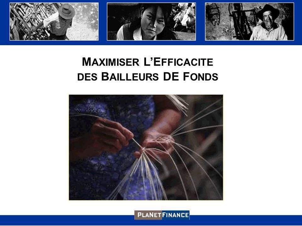 M AXIMISER LE FFICACITE DES B AILLEURS DE F ONDS