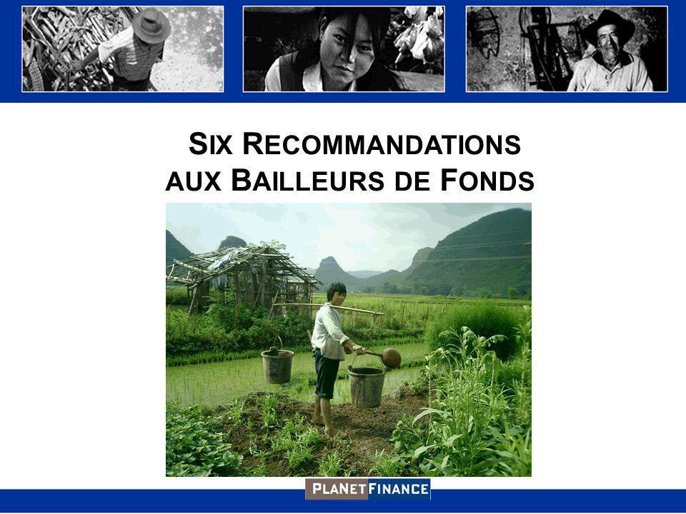 S IX R ECOMMANDATIONS AUX B AILLEURS DE F ONDS
