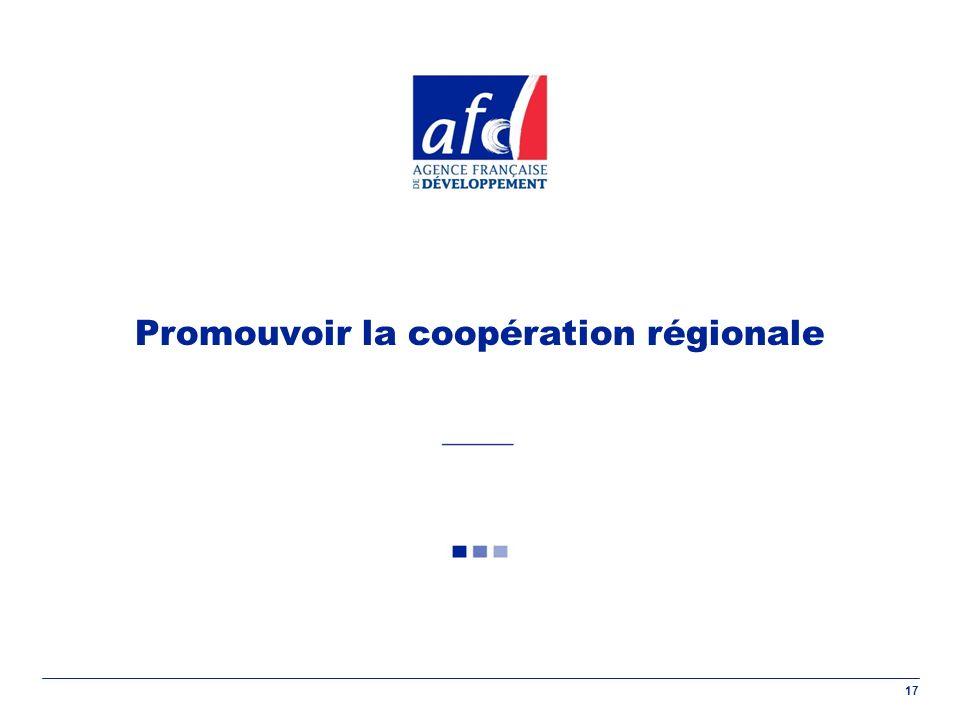 17 Promouvoir la coopération régionale