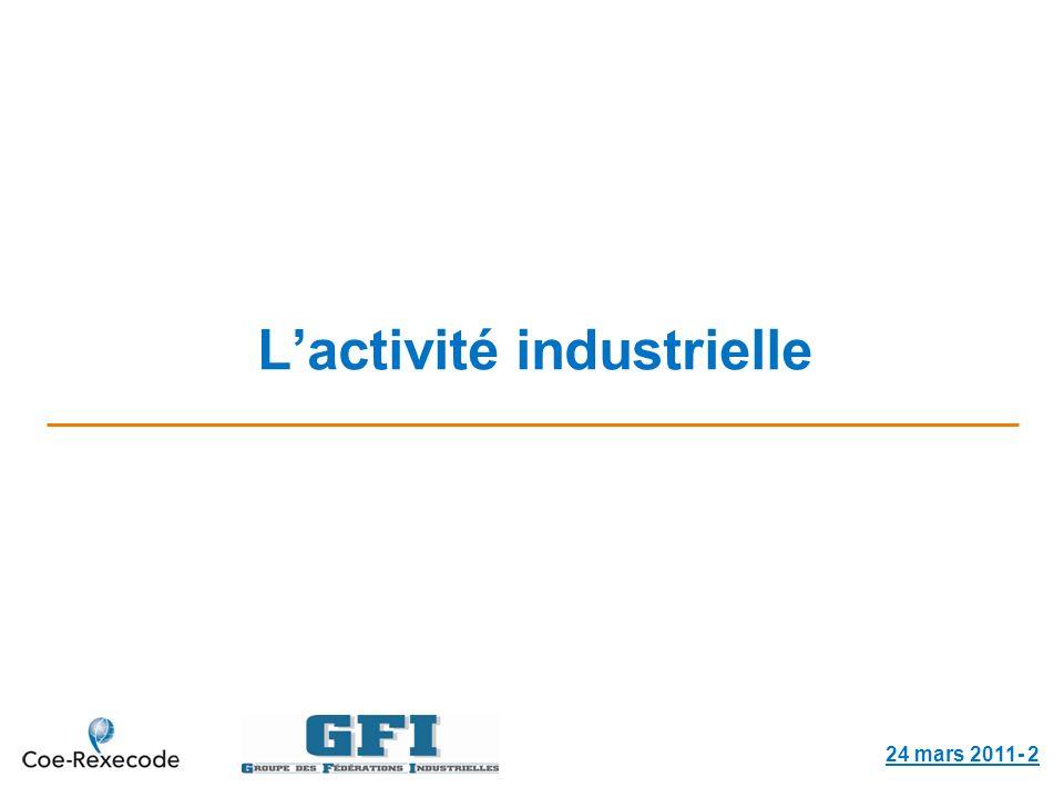 Lactivité industrielle 24 mars 2011- 2