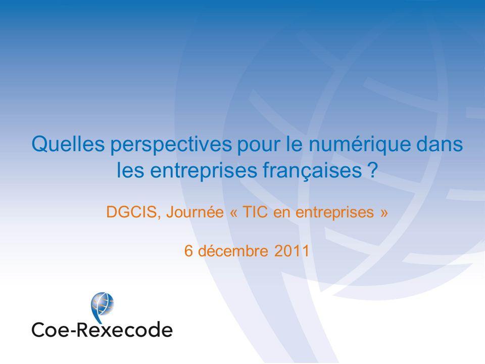 Quelles perspectives pour le numérique dans les entreprises françaises ? DGCIS, Journée « TIC en entreprises » 6 décembre 2011