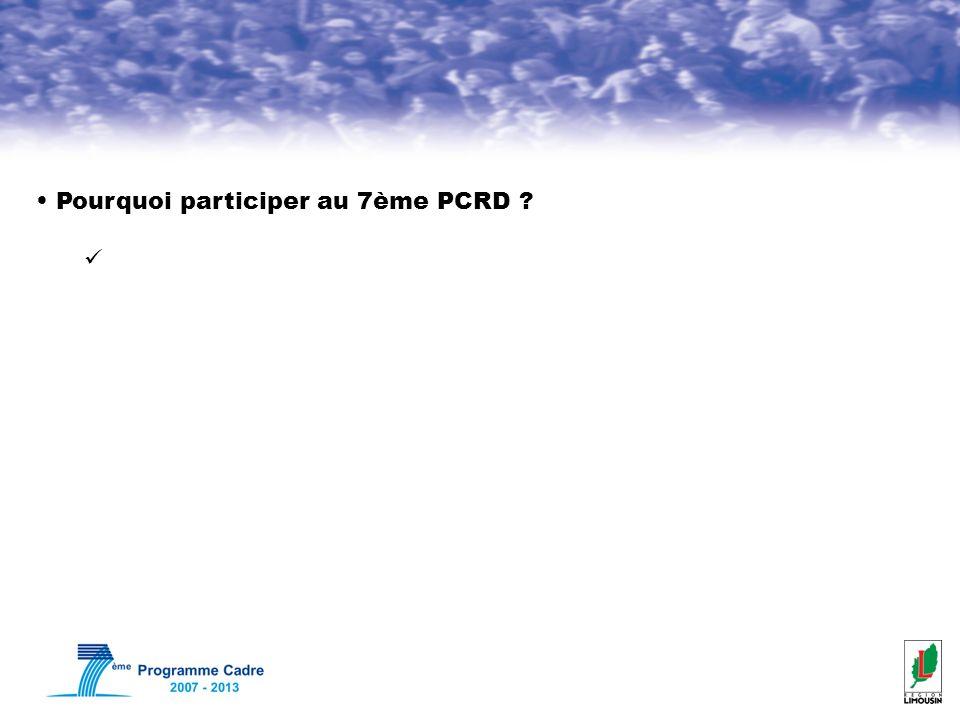 Pourquoi participer au 7ème PCRD ?