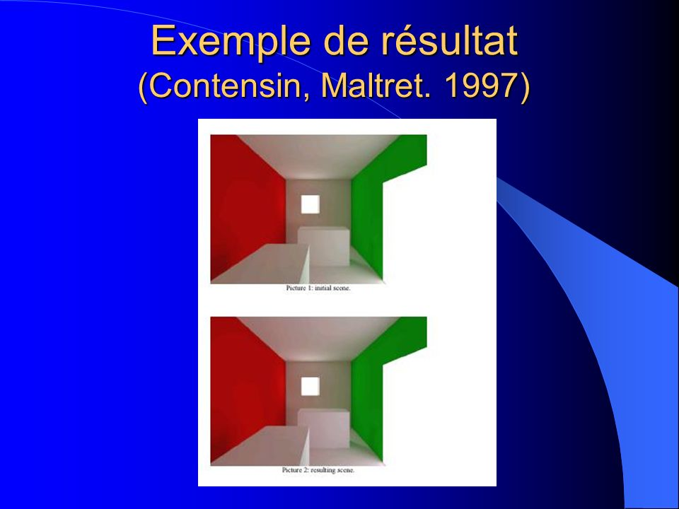 Exemple de résultat (Contensin, Maltret. 1997)