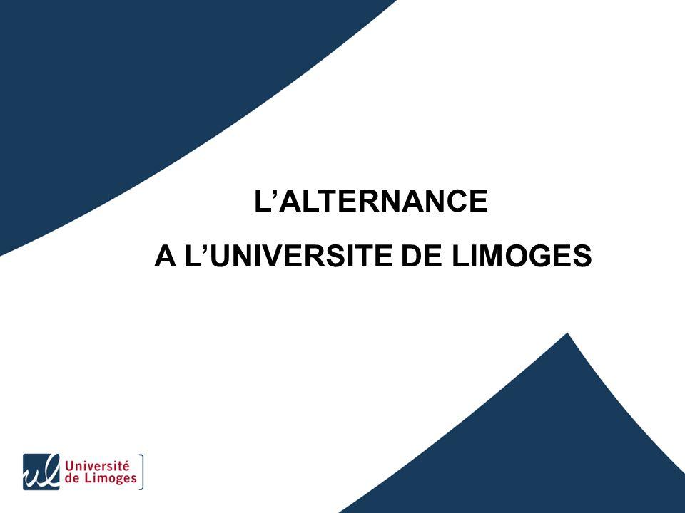 LALTERNANCE A LUNIVERSITE DE LIMOGES