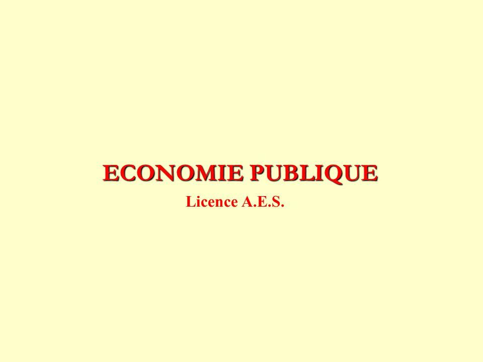 ECONOMIE PUBLIQUE Licence A.E.S.