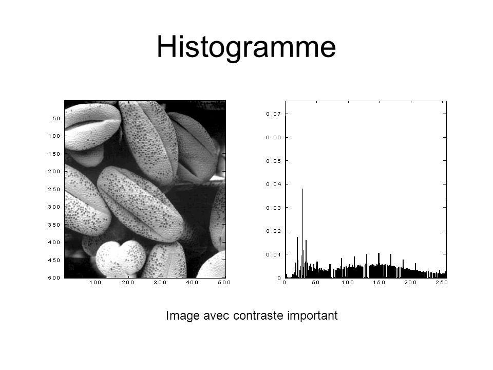 Histogramme Image avec contraste important