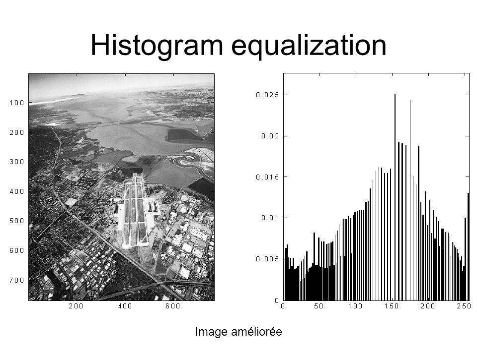 Image améliorée Histogram equalization