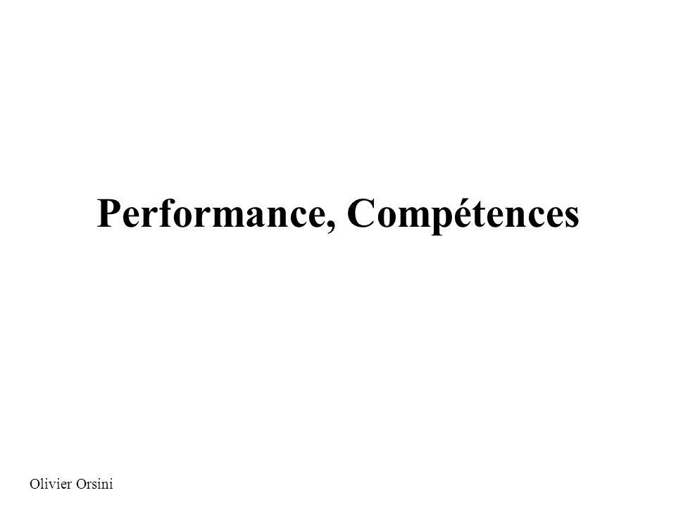 Performance, Compétences Olivier Orsini