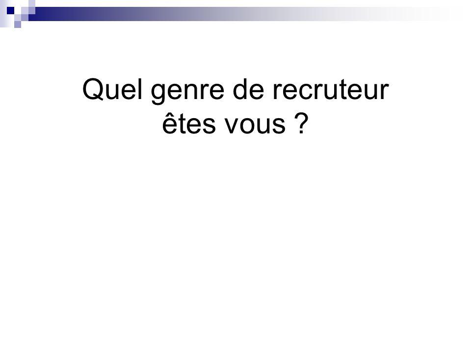 Quel genre de recruteur êtes vous ?