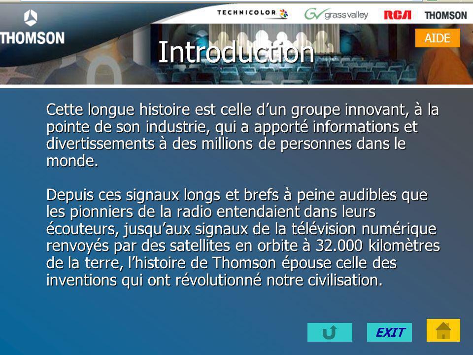 EXITSOMMAIRE Introduction Présentation Historique Activités Chiffre d'affaires Liens Conclusion AIDE