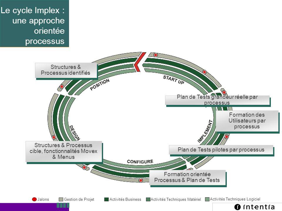Template ver.1.2 / 12 Structures & Processus identifiés Structures & Processus cible, fonctionnalités Movex & Menus Formation orientée Processus & Pla